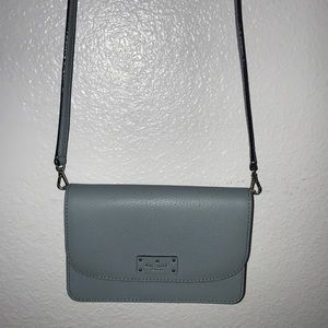 Light blue Kate Spade crossbody purse